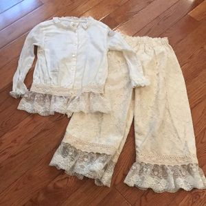 Persnickety two piece. Off white size 8